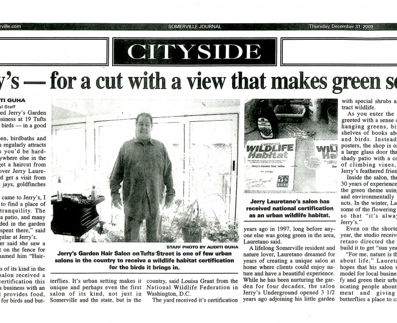 Somerville Journal:  For a cut with a view ...